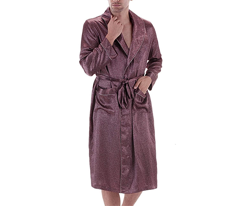 mens silk robe